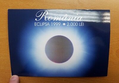 Total Solar Eclipse -11 August 1999 , 2,000 Lei Romania Banknote , Uncirculated