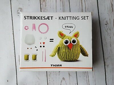 BNIB Tiger Knitting Set Owl - Ideal For Beginners Craft Pattern