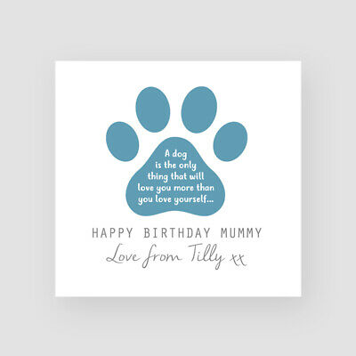 Personalised Handmade Birthday Card From Dog Dogs