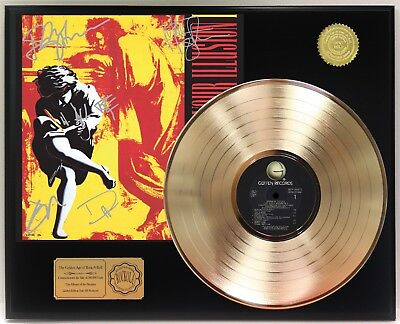 "Guns N Roses Use Your Illusion 1 Gold Lp Ltd Signature Record Display ""C3"""
