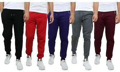 Mens Fleece Jogger Sweatpants Slim Fit Premium Cotton Blend Lounge Gym Warm NWT
