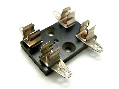 """2 Pole Fuse Block for 13/32"""" x 1 1/4"""" Fuses - Bussmann 4409 *NEW OLD STOCK!*"""