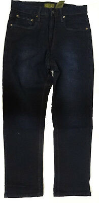 Urban Star Men's Relaxed Fit Straight Leg Jeans Dark Rinse