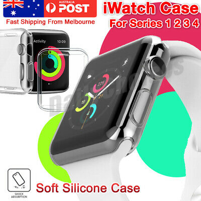 Apple Watch Series 4 Case iPhone Watch Soft Clear Case Cover for 42 38mm 40 44mm