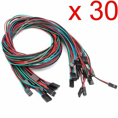 Gaoxing Tech. 30pcs 70cm 2pin 3pin 4pin female to female Dupont cable jumper for