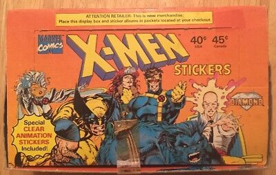 Marvel Comics X-Men Stickers Diamond 1993 50 Package box vintage rare