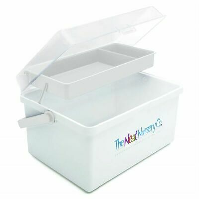 The Neat Nursery Co. Baby Bath Essentials / Shampoo / Nappy Box Organiser White