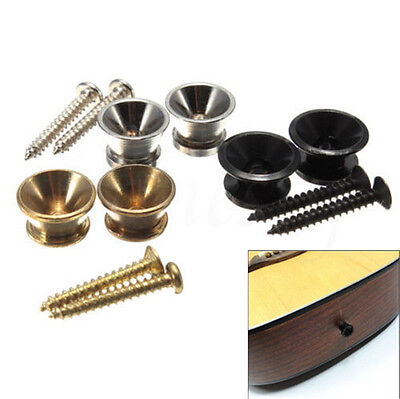 3 sets Guitar Strap Button Screw Lock for Electric Acoustic Guitar Bass Parts