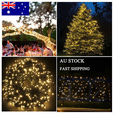 500LED 100M Warm White Fairy Christmas String Strip Lights Party Outdoor Wedding