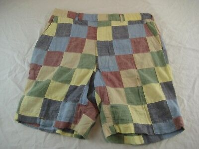 vintage Checkered PLAID Trimingham's Bermuda high waist Shorts Sz 34