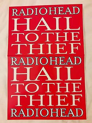 Radiohead Hail To The Thief Large RARE PROMO Sticker* Muse Coldplay Arcade Fire