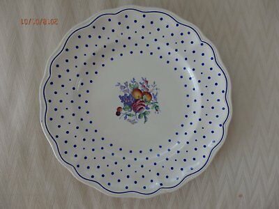 Beautiful Copeland Spode Polka Dot  Dinner Plate
