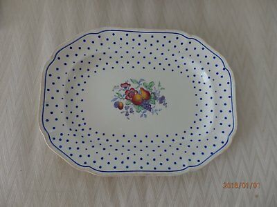 Beautiful Copeland Spode Polka Dot  Platter