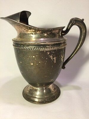 "Early 9 1/24"" Tall Ice / Water Pitcher KEYSTONE (KS Inc) Vintage Heavy Plated"