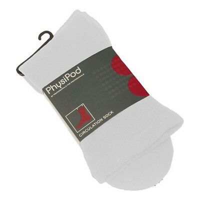 PhysiPod  Foot Support Circulation Cotton Sock Small - White
