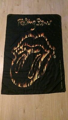 RARE - The Rolling Stones - Flaming Tongue - Textile Poster Flag 110cm x 75cm