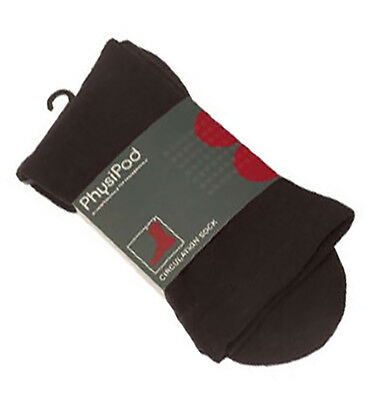 PhysiPod Circulation Travel Socks Loose Diabetic Health Mens Womens Large Brown