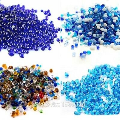 Marble Beads Aquarium Accessories 500g Glass Pebble Stones Garden Ornament 3-6mm