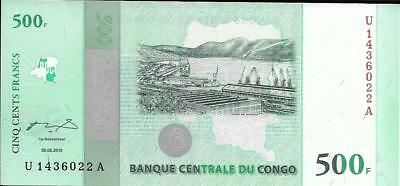see UV image 2010 UNC Congo P100 500 Francs Port of Matadi // Kinsuka Bridge