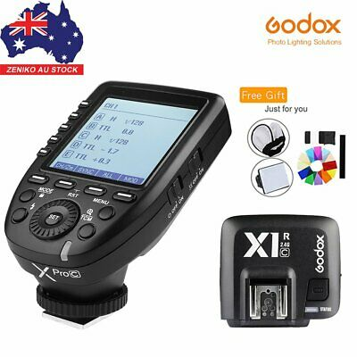 AU Godox XPro-C 2.4G E-TTL Wireless Flash Trigger+Receiver For Canon+Free Gifts