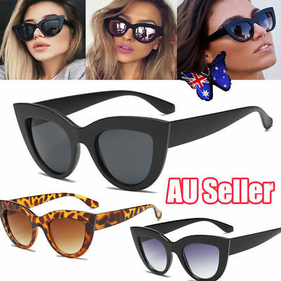 Luxury Ladies Womens Oversized Cat Eye Sunglasses Vintage Style Retro Shades MN