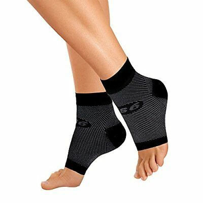 OrthoSleeve FS6 Compression Foot Sleeve Pair Black Small Orthotics Braces Health