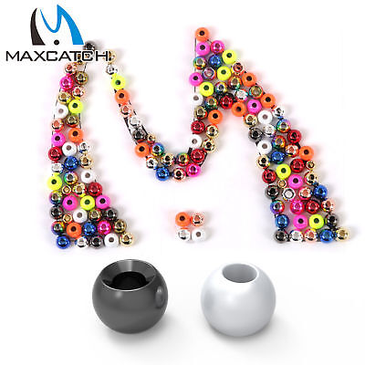 Maxcatch Tungsten Fly Tying Beads Assortment Colorful Hook Nymph Head Ball Beads