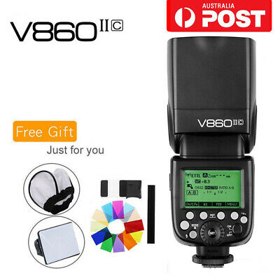 AU Godox V860II-C 2.4G TTL Flash Speedlite & Li-ion Battery For Canon+Free Gifts