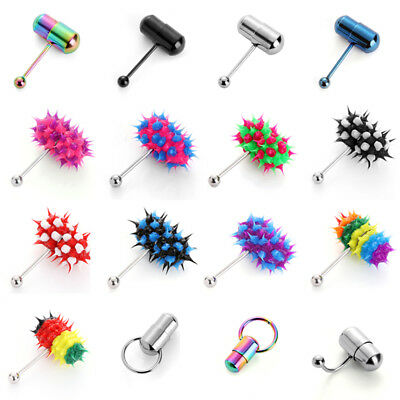 Fashion Stainless Steel Vibrating Tongue Bar Barbell Body Piercing Stud Ring