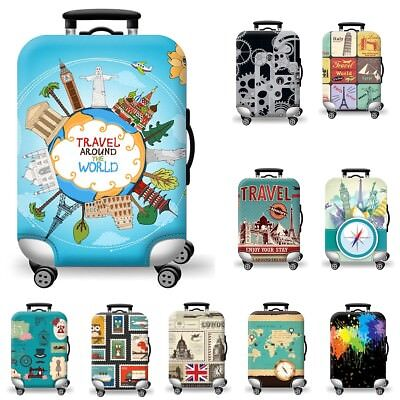 AU 19-29 inch S/M/L Luggage Cover Cartoon Trunk Case Baggage Suitcase Protective