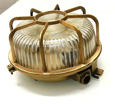 Old Brass Salvage Nautical Ship Light With Antique Polishing One Pcs