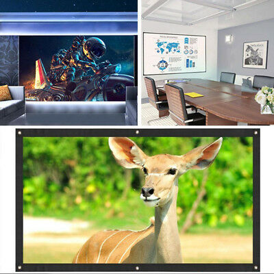16:9 Polyester 60 Inch Projector Screen Soft Portable Video