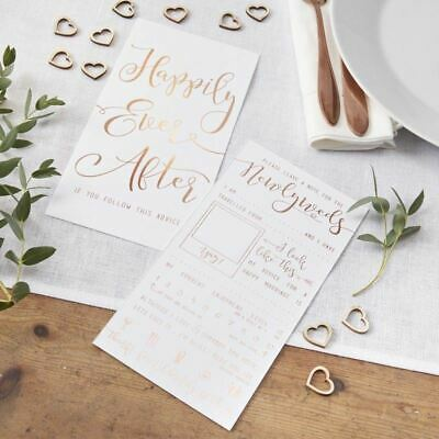10 Beautiful Rose Gold Foiled Wedding Advice Cards - New for 2018 by Ginger Ray