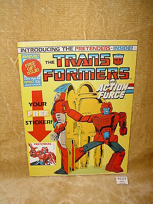 Original Vintage Marvel Uk Transformers Comic #162 W/ Free Gift 23 April 1988