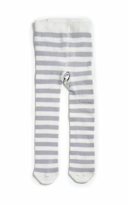Natures Purest Grey Striped Cream Organic Cotton Tights - 18 - 24 months (174B)