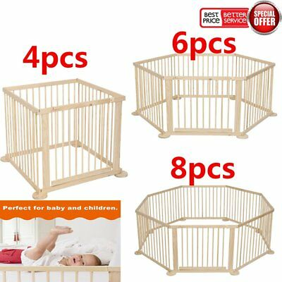 Baby Playpen 3 In 1 Play-pen Kids 4 / 6 /8 Panel Safety Play Center Yard Home UK