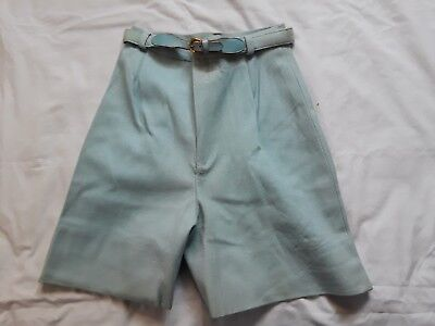 Vintage 70s Women's Wool Shorts w/ Belt - VTG shorts