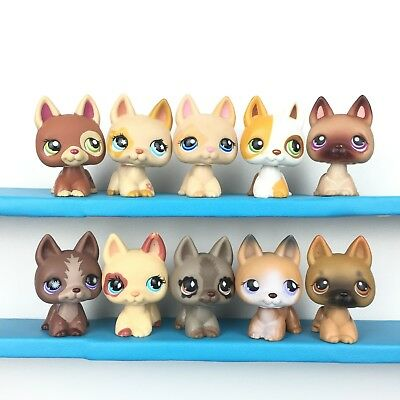 Lot 10 Littlest Pet Shop 1362 604 1447 127 375 867 German Shepherd Dog LPS Set