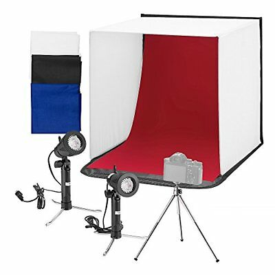 "Square Perfect 16"" Mobile LED Folding Table Top Light Tent Photography Studio"