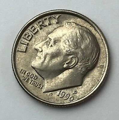 Dated : 1990 - Roosevelt - One Dime - American Coin - United States of America