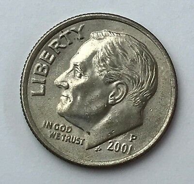 Dated : 2001 - Roosevelt - One Dime - American Coin - United States of America