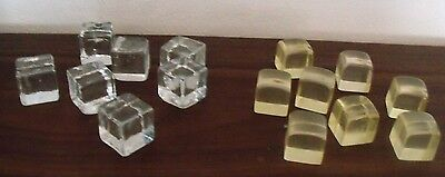 MIXED LOT OF GLASS CUBES AND LUCITE ACRYLIC VINTAGE Mid Century Modern
