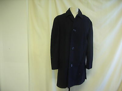 "Mens Coat  Hardy Amies Tailored by Hepworths, Chest 40""  Wool, Navy DMG -  1948"