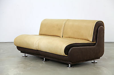 Two-Seater Sofa with Neck-Leather 70s | Dickes DeSede-Leder