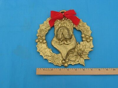 "SharPei 3D Holiday Wreath 8"" - Dannyquest - New"