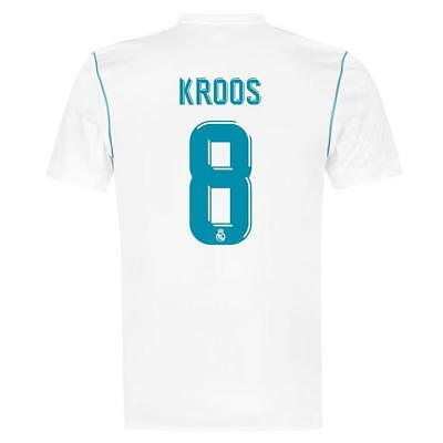Adult S Real Madrid Home Shirt 2017-18 with Kroos 8 RM16