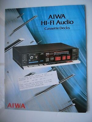 AIWA FULLY ILLUSTRATED VINTAGE CASSETTE PRODUCT BROCHURE/PRICE LIST,12x A4 JAPAN