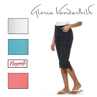 CLEARANCE! Gloria Vanderbilt Lillie Skimmer Capri Pants VARIETY Size and Color