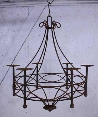 Wrought Iron Cassie Candle Chandelier Metal Hanging Candelabra
