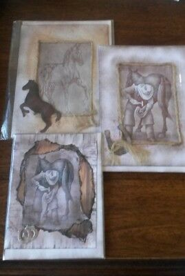 """Western, Cowboy-Farrier, Horse blank notecards by """"from the Heart"""""""
